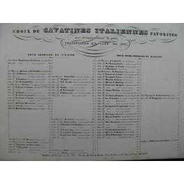 MERCADANTE Il Giuramento Cavatina Chant Piano XIXe