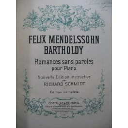 MENDELSSOHN Romances sans paroles Piano ca1900