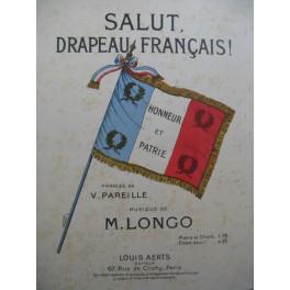 LONGO M. Salut Drapeau Français Chant Piano