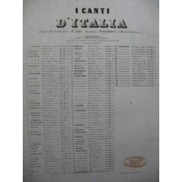 GORDIGIANI La Bianchina Canto Popolare Toscano Chant Piano ca1850