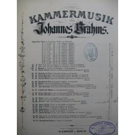 BRAHMS Johannes Quintett op 88 Violon Alto Violoncelle ca1885