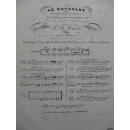 GOMIS José Melchor Le Revenant No 9 Chant Piano 1836