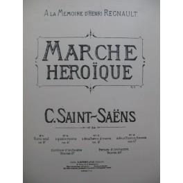 SAINT-SAËNS Camille Marche Héroïque Piano 4 mains XIXe
