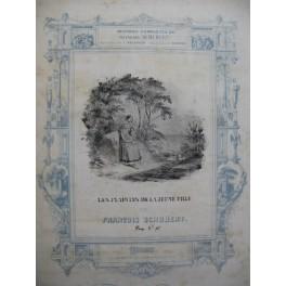 SCHUBERT Franz Les Plaintes de la Jeune Fille Chant Piano ca1840