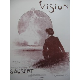 AUBERT Gaston Vision Pousthomis Chant Piano 1908