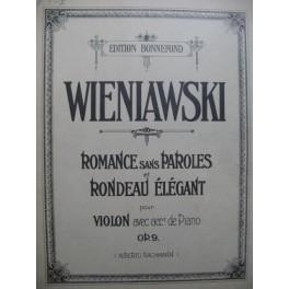 WIENIAWSKI Henri Romance sans Paroles et Rondeau Violon Piano