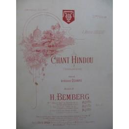 BEMBERG H. Chant Hindou Chant Piano Violoncelle ou Violon