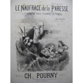 POURNY Charles Le Naufrage de la Paresse Chant Piano XIXe