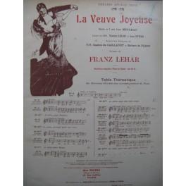 LEHAR Franz La Veuve Joyeuse No 17 Valse Heure Exquise Chant Piano 1909