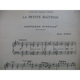 EYMIEU H. LÉTANG A. GUETTMANN P. MARCHAND L. Pièces Orgue 1925