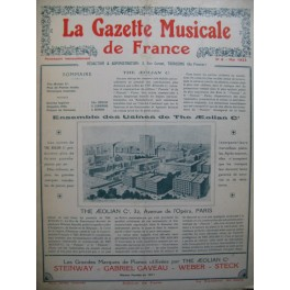 La Gazette Musicale de France No 8 Chant Piano 1923