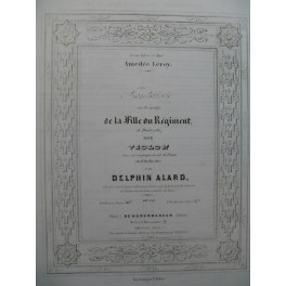 ALARD Delphin Fantaisie La Fille du Régiment Donizetti Violon Piano ca1855