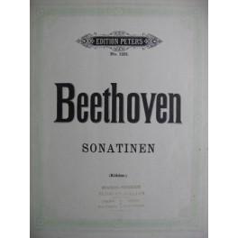BEETHOVEN Ludwig van 6 Sonatines