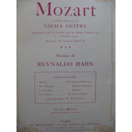 HAHN Reynaldo Mozart Comédie Musicale Chant Piano 1926
