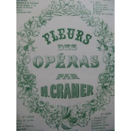 CRAMER Henri Les Huguenots Piano XIXe siècle