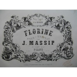 MASSIP Jules Florine Piano XIXe siècle