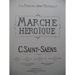 SAINT SAËNS Camille Marche Héroïque Piano XIXe siècle