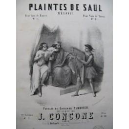 CONCONE Joseph Plaintes de Saül Chant Piano XIXe