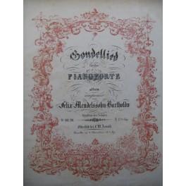 MENDELSSOHN Gondellied Piano 4 mains XIXe