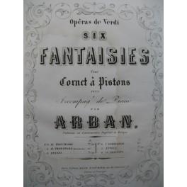 ARBAN Ernani I Lombardi Verdi Piano Cornet à Pistons 1863