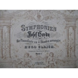 HAYDN Joseph Symphonien Piano 4 mains 1895