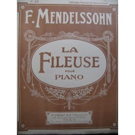MENDELSSOHN La Fileuse Romance Piano