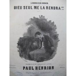 HENRION Paul Dieu seul me la Rendra !!! Nanteuil Chant Piano ca1850