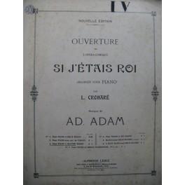 ADAM Adolphe Si j'étais Roi Ouverture Piano 4 mains XIXe