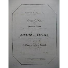 OSBORNE BÉRIOT Grand Duo Le Barbier de Séville Violon Piano ca1850
