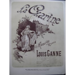 GANNE Louis La Czarine Mazurka Russe pour Piano 1890