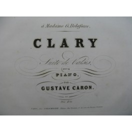 CARON Gustave Clary Piano XIXe siècle