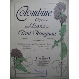 ROUGNON Paul Colombine Piano 1913