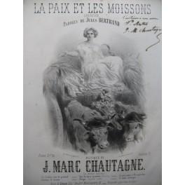 CHAUTAGNE Jean Marc La Paix et les Moissons Nanteuil Dédicace Chant Piano ca1860