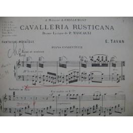 TAVAN E. Fantaisie Cavalleria Rusticana Mascagni Orchestre 1906