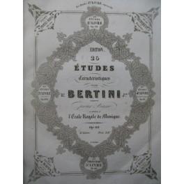 BERTINI CRAMER DE KONTSKI ZIMMERMAN Etudes Piano XIXe