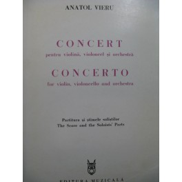 VIERU Anatol Concerto Violon Violoncelle Orchestre 1984