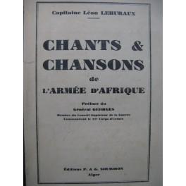 LEHURAUX Léon Chants et Chansons de l'Armée d'Afrique