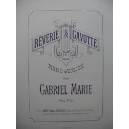 GABRIEL MARIE Rêverie et Gavotte Violon Piano 1884