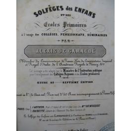 DE GARAUDÉ Alexis Solfèges des Enfants XIXe