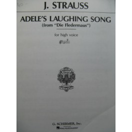 STRAUSS Johann Adele's Laughing Song Chant Piano