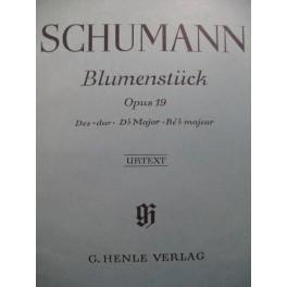 SCHUMANN Robert Blumenstück op 19 Piano
