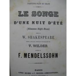 MENDELSSOHN Le Songe d'une Nuit d'été Chant Piano XIXe