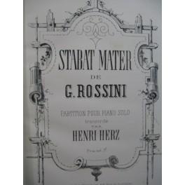 ROSSINI G. Stabat Mater Henri Herz Piano solo ca1860