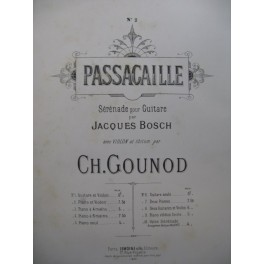GOUNOD Charles Passacaille Violon Piano 1885