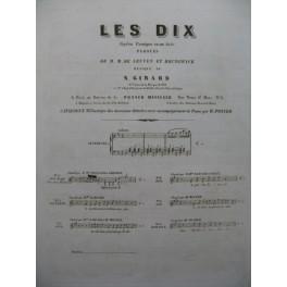 GIRARD Narcisse Les Dix Opéra No 6 Chant Piano 1842