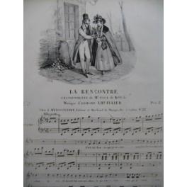 LHUILLIER Edmond La Rencontre Chant Piano ca1830