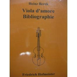 BERCK Heinz Viola d'amore Bibliographie 1994