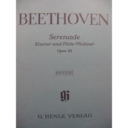 BEETHOVEN Sérénade op 41 Piano Flûte ou Violon