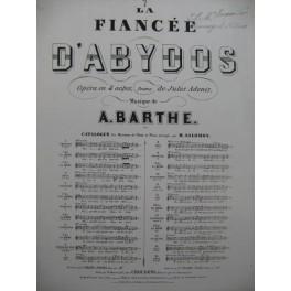 BARTHE Adrien La fiancée d'Abydos Opéra No 7 Chant Piano ca1865