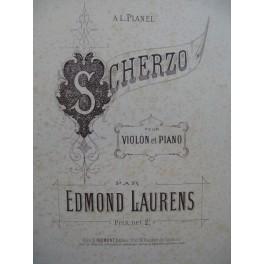 LAURENS Edmond Scherzo Violon Piano ca1890